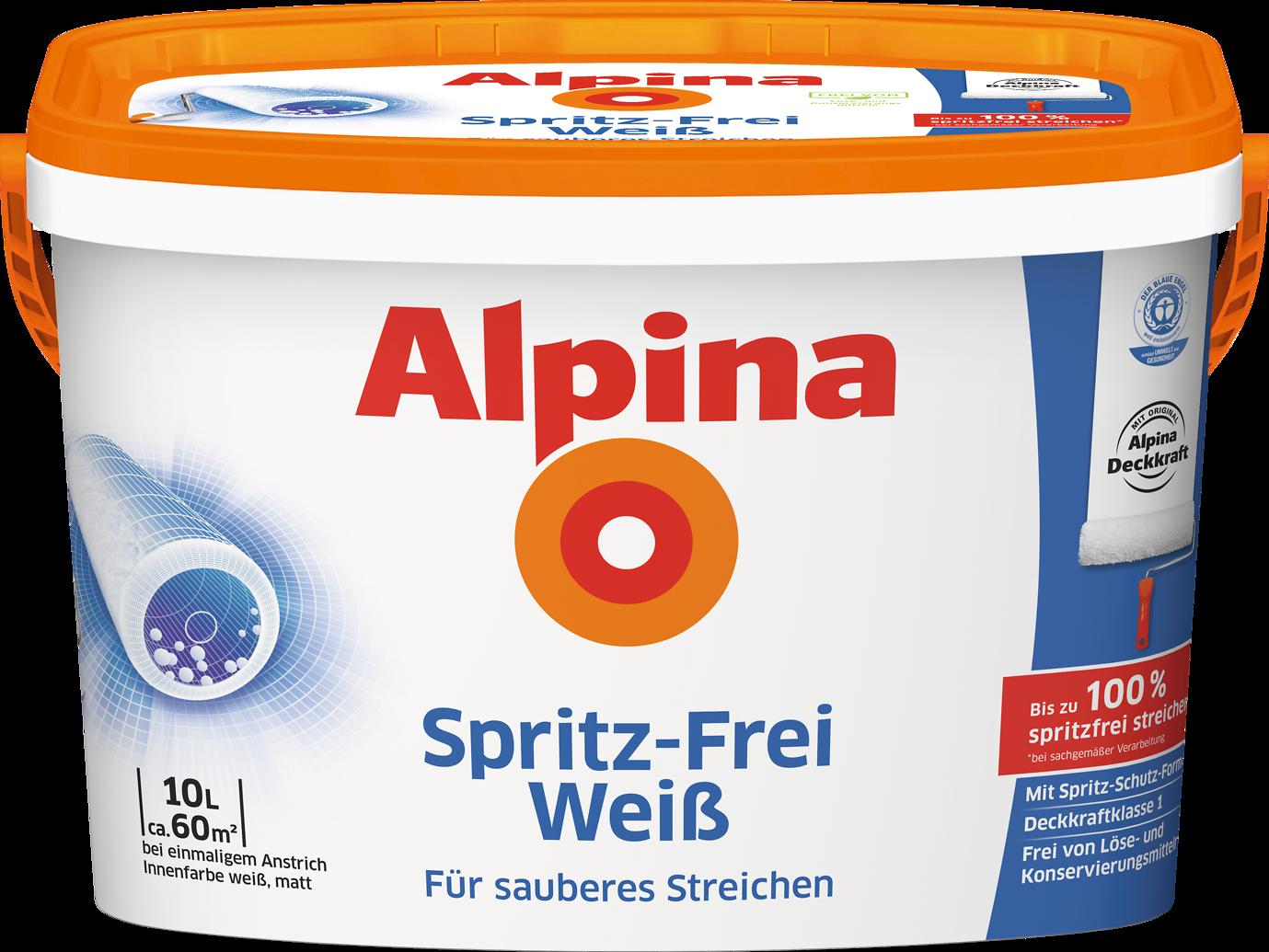 Wandfarbe einfach sauber streichen. Innenfarbe: Alpina Spritz-Frei ...