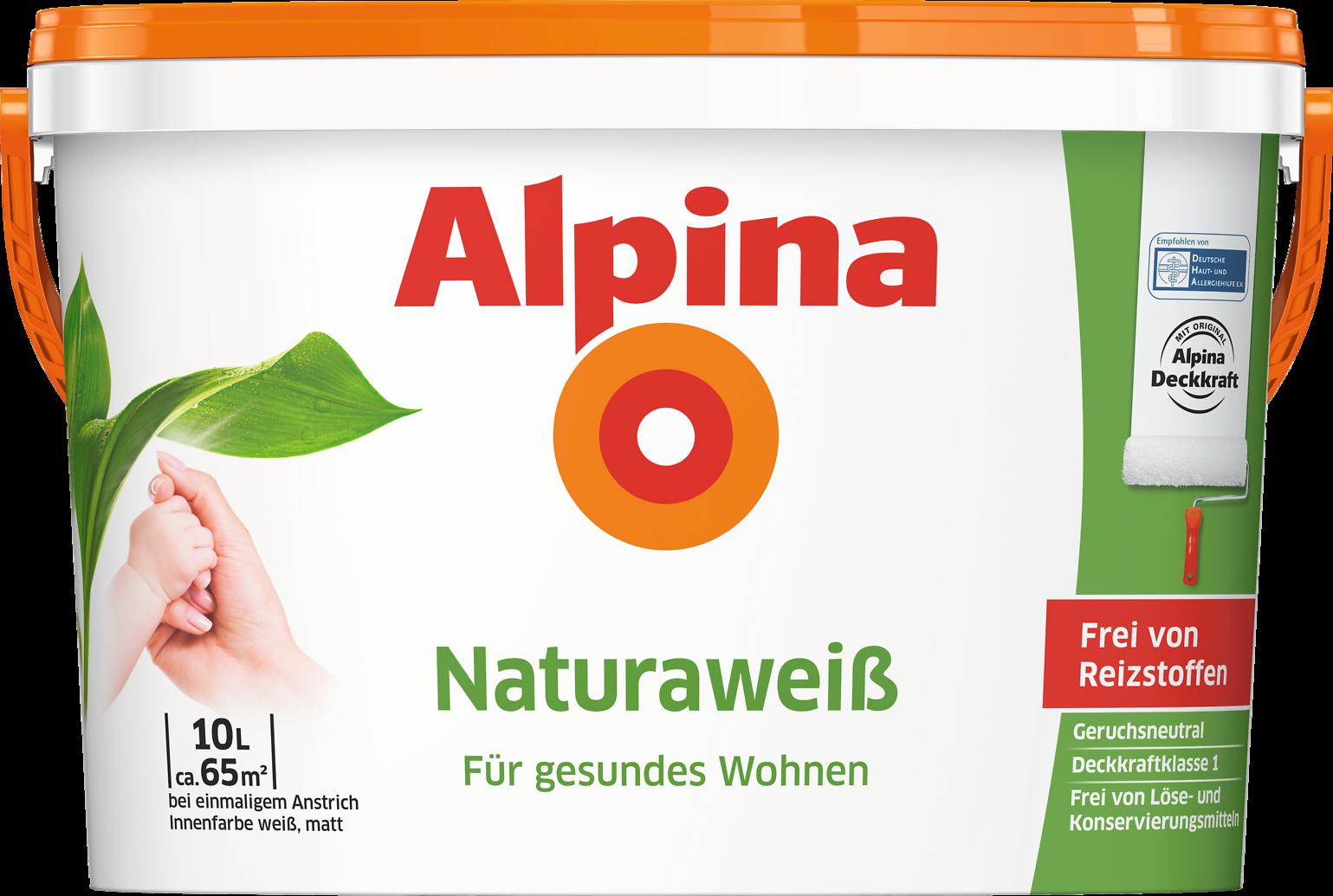 Wandfarbe weiß Allergiker geeignet ohne Reizstoffe: Alpina ...