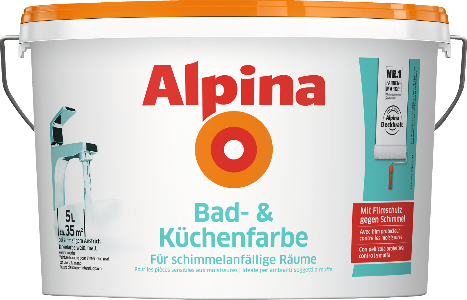 Fabulous Bad- und Küchenfarbe, mit Filmschutz gegen Schimmel - Alpina Farben AB09