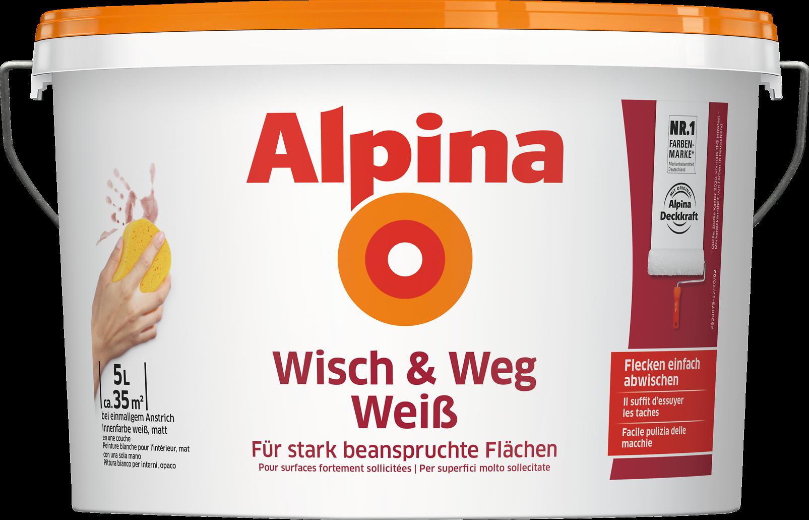 wandfarbe zum abwischen dispersionsfarbe alpina wisch weg wei alpina farben. Black Bedroom Furniture Sets. Home Design Ideas