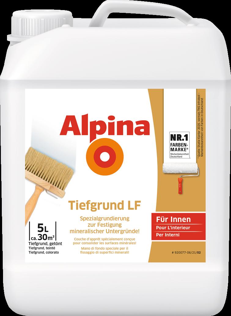 grundierung wand streichen vorbereitung alpina tiefgrund lf alpina farben. Black Bedroom Furniture Sets. Home Design Ideas