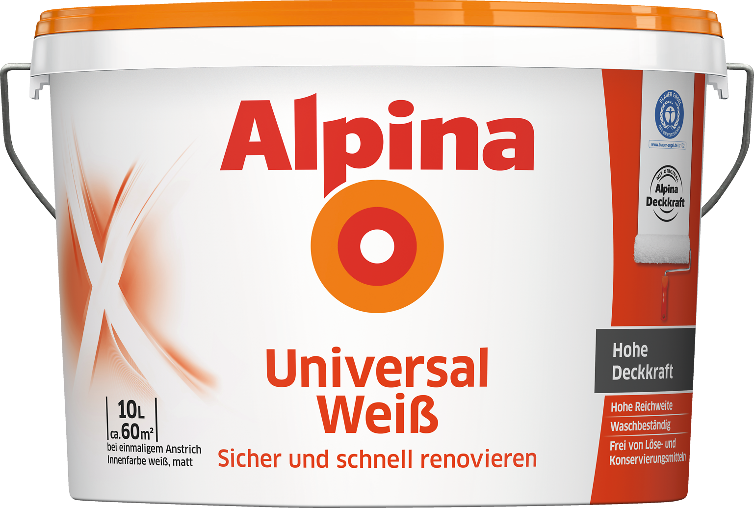alpina universal wei alpina farben. Black Bedroom Furniture Sets. Home Design Ideas