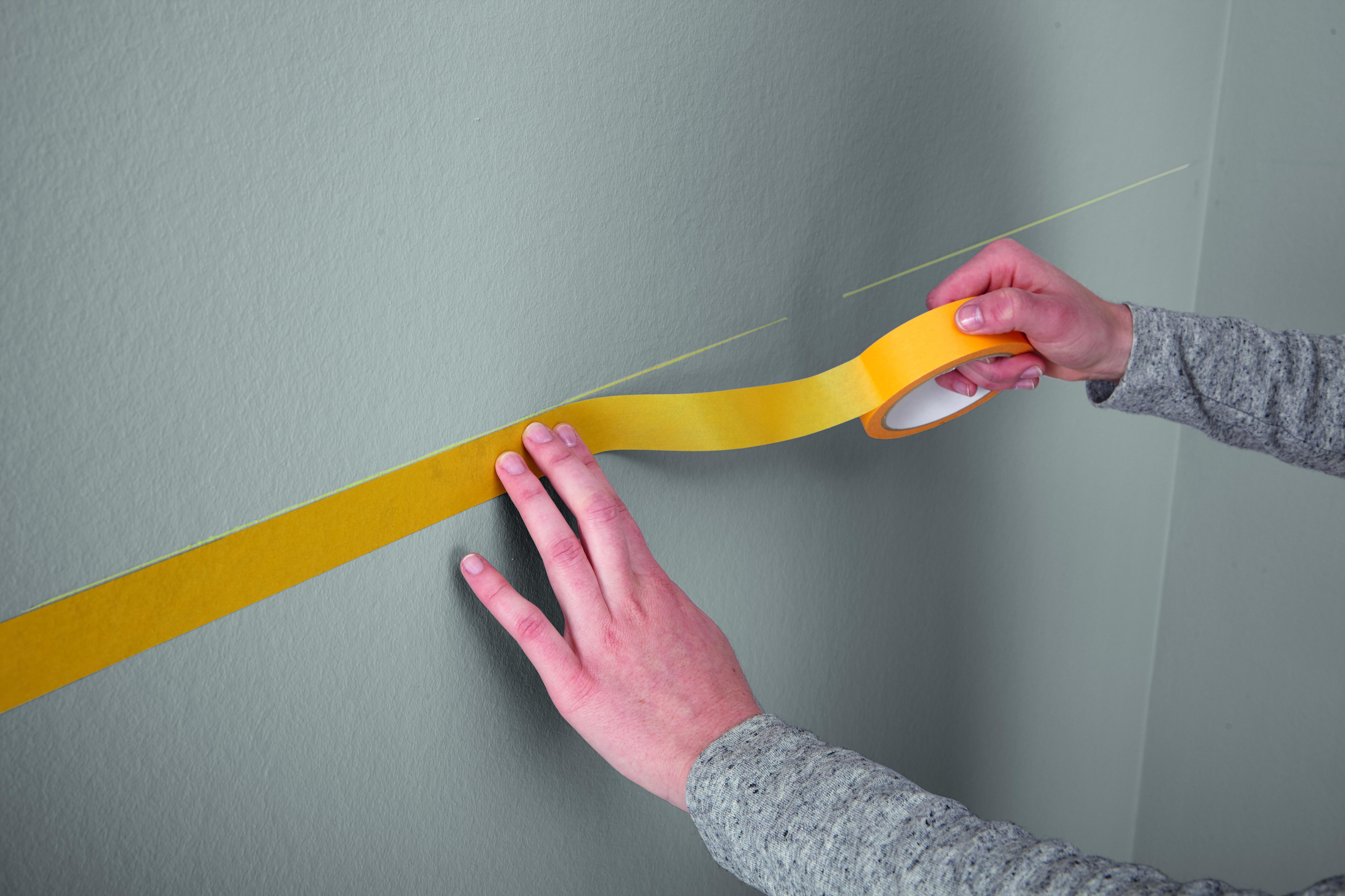 wandfarben streifen, die richtige technik für saubere kanten: alpina innen streichen, Design ideen