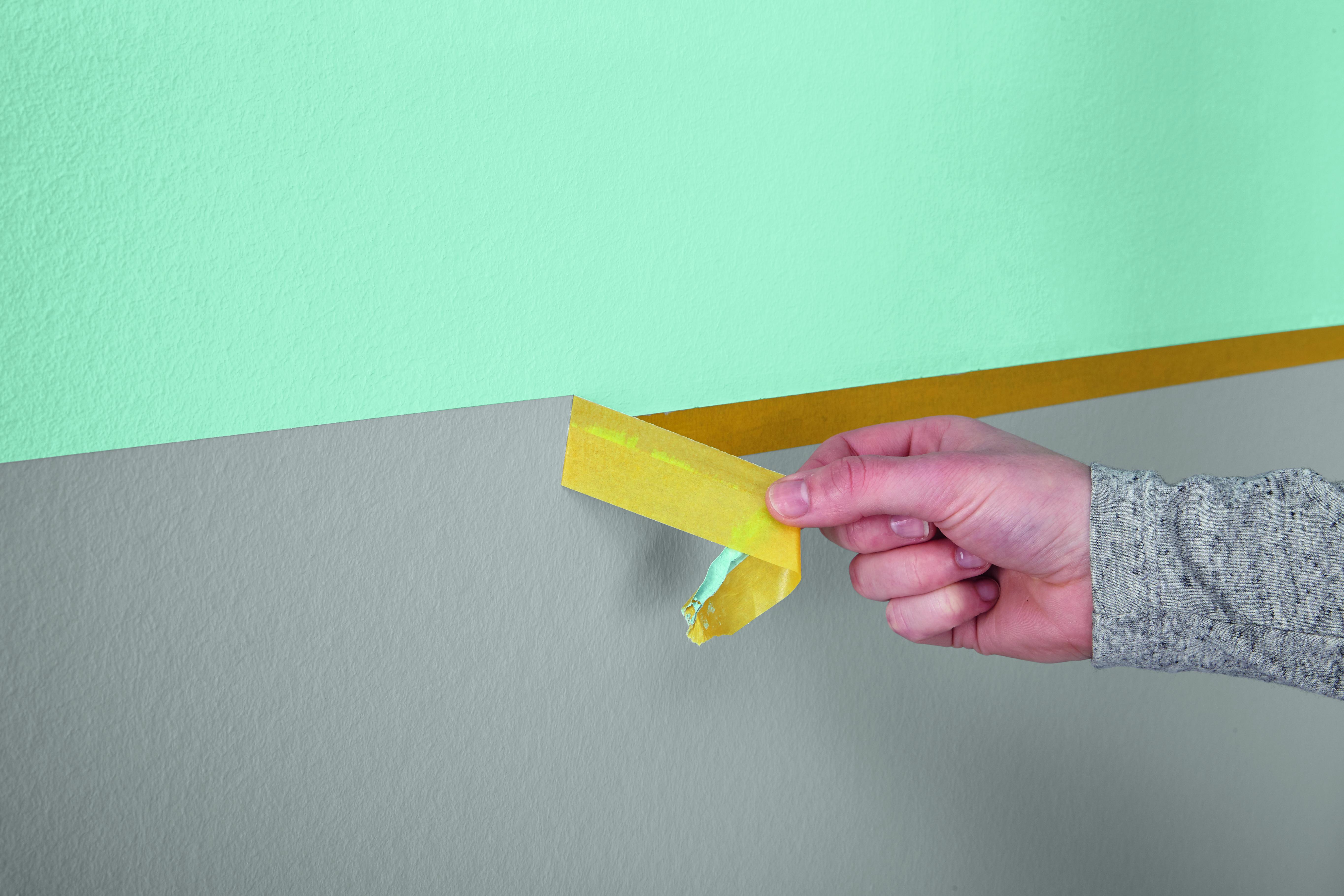 Brilliant Wand Zweifarbig Streichen Beste Wahl Gleich Im S Ziehen Sie Auch Den