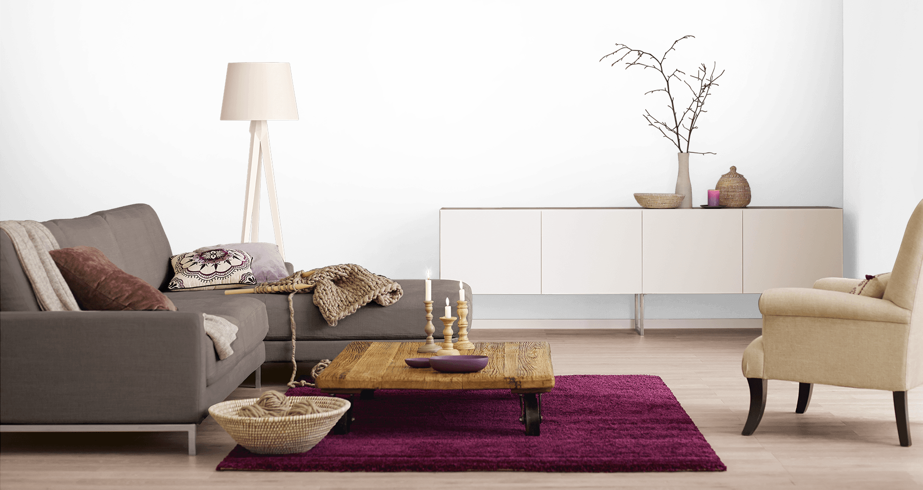 kreative farbgestaltung in r umen alpina farbrezepte und effektfarben. Black Bedroom Furniture Sets. Home Design Ideas