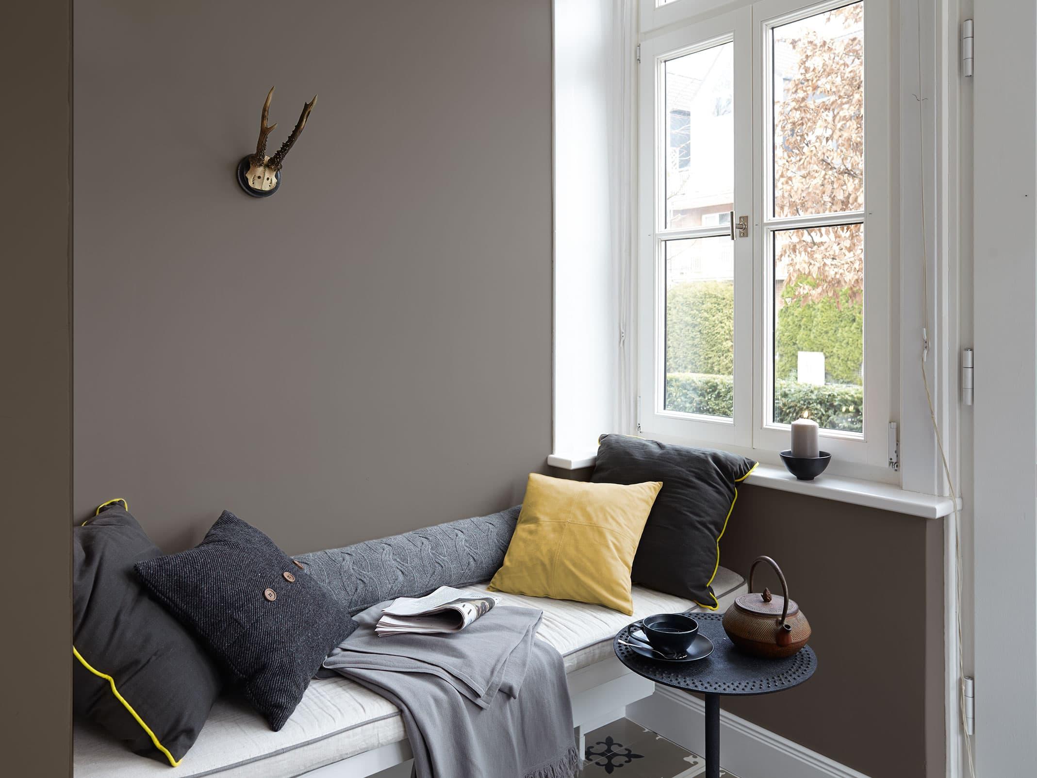 edelmatte wandfarben in grau alpina feine farben. Black Bedroom Furniture Sets. Home Design Ideas
