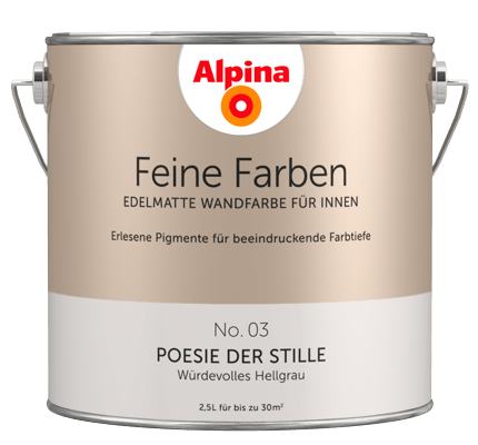 alpina feine farben edelmatte wandfarben in grau alpina farben. Black Bedroom Furniture Sets. Home Design Ideas