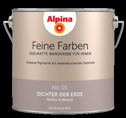 alpina feine farben edelmatte wandfarben in braun alpina farben. Black Bedroom Furniture Sets. Home Design Ideas