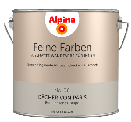 alpina feine farben edelmatte wandfarben in braun alpina farben. Black Bedroom Furniture Sets. Home Design Ideas