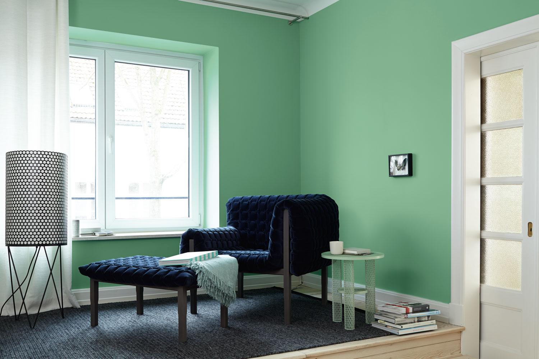 edelmatte wandfarben in gr n alpina feine farben. Black Bedroom Furniture Sets. Home Design Ideas