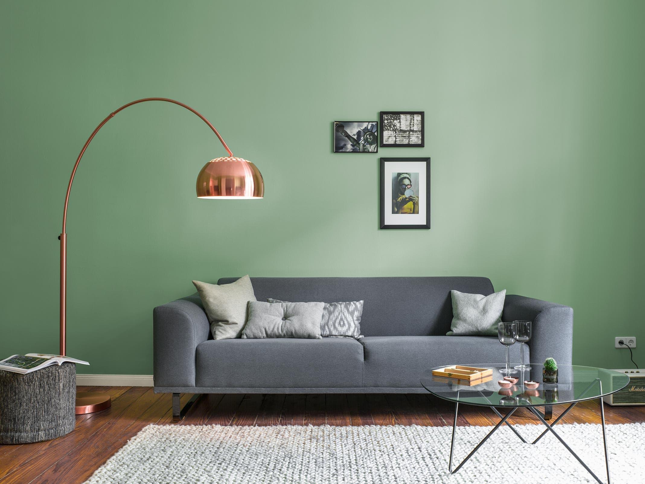 alpina feine farben edelmatte wandfarben in gr n alpina farben. Black Bedroom Furniture Sets. Home Design Ideas