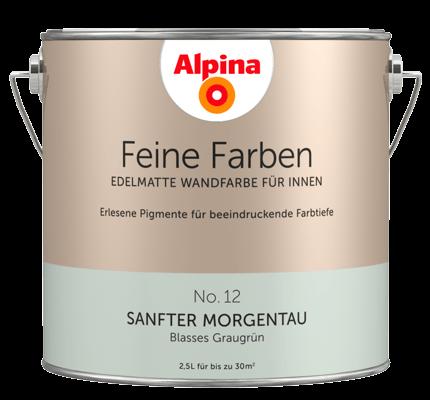 alpina feine farben edelmatte wandfarben in gr n alpina. Black Bedroom Furniture Sets. Home Design Ideas