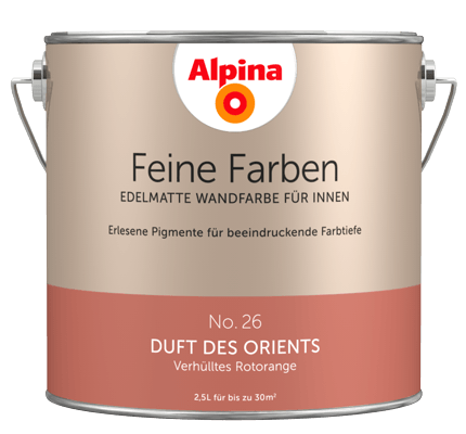 Alpina Feine Farben: edelmatte Wandfarben in Orange - Alpina Farben