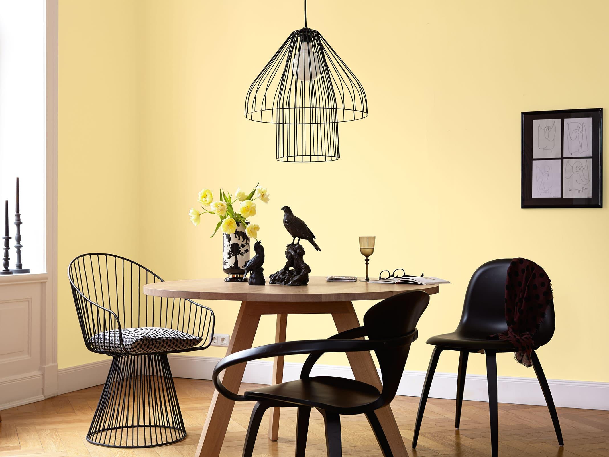 edelmatte wandfarben in gelb alpina feine farben. Black Bedroom Furniture Sets. Home Design Ideas
