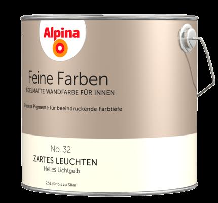 Alpina Feine Farben: edelmatte Wandfarben in Gelb - Alpina Farben