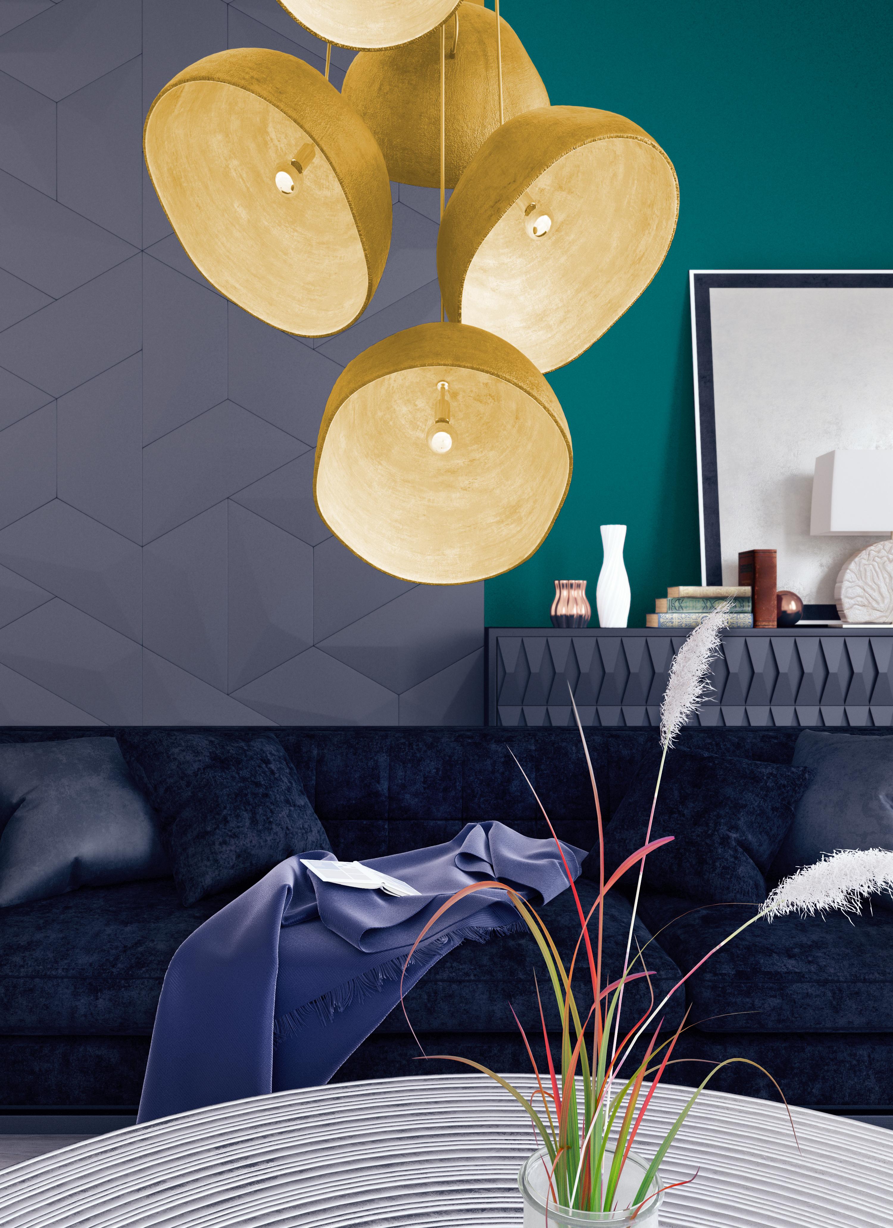 Petrol-Wandfarbe: Cooles, aber elegantes Blaugrün als Innenfarbe ...
