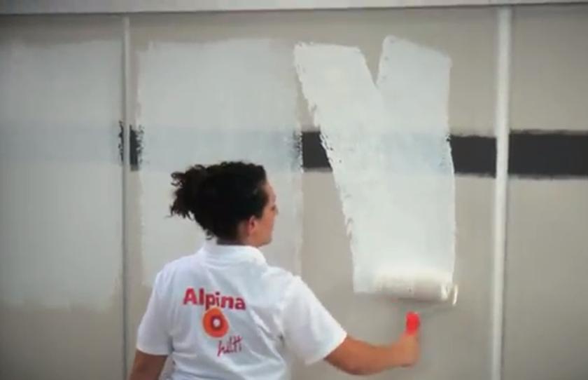 Gute wandfarbe so erkennt man qualit t alpina innen streichen - Wandfarbe deckkraft 1 ...