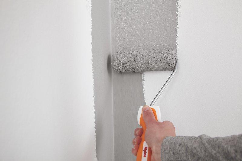 kanten streichen ohne abkleben saubere kanten beim. Black Bedroom Furniture Sets. Home Design Ideas