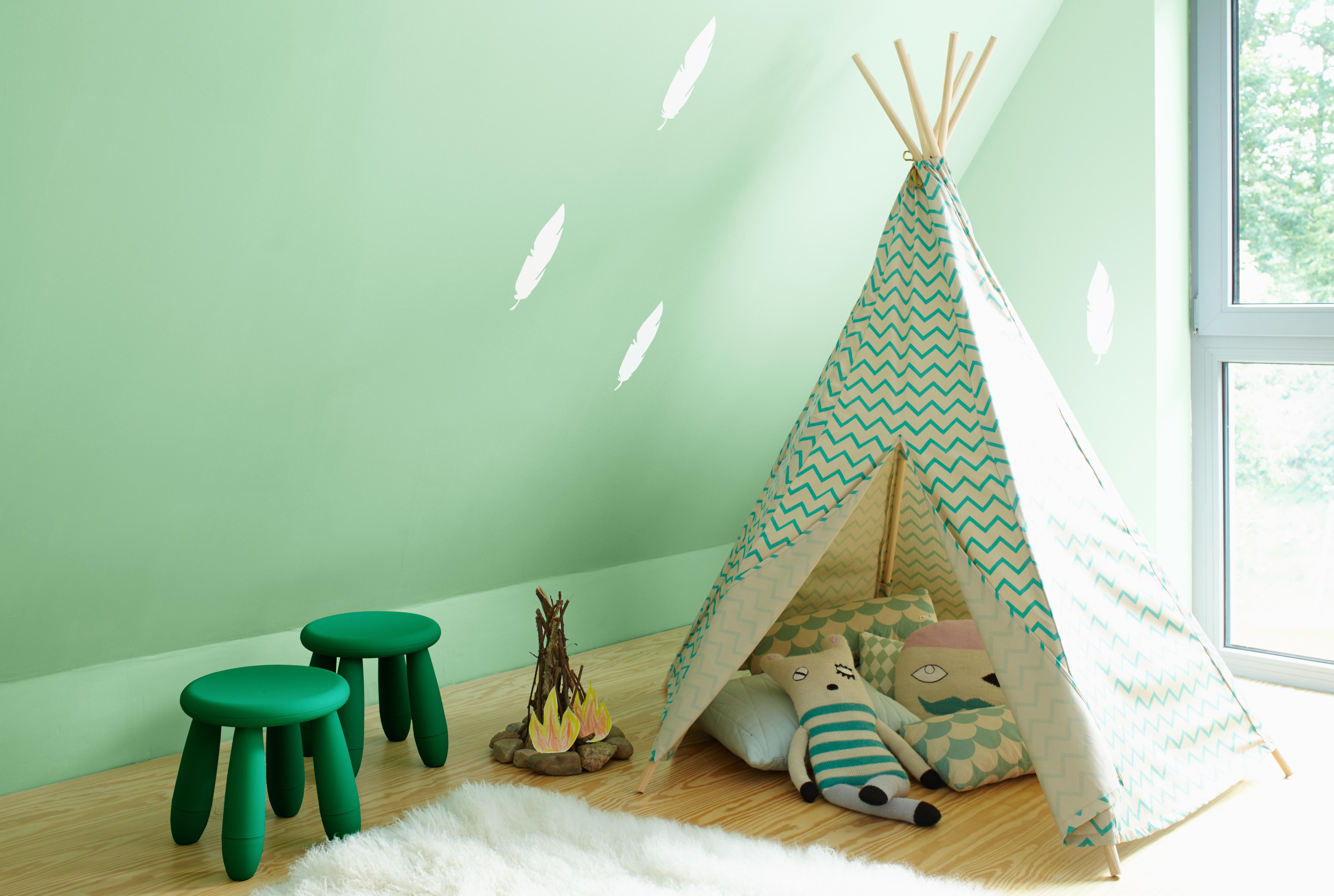 Schablonen Kinderzimmer Wände