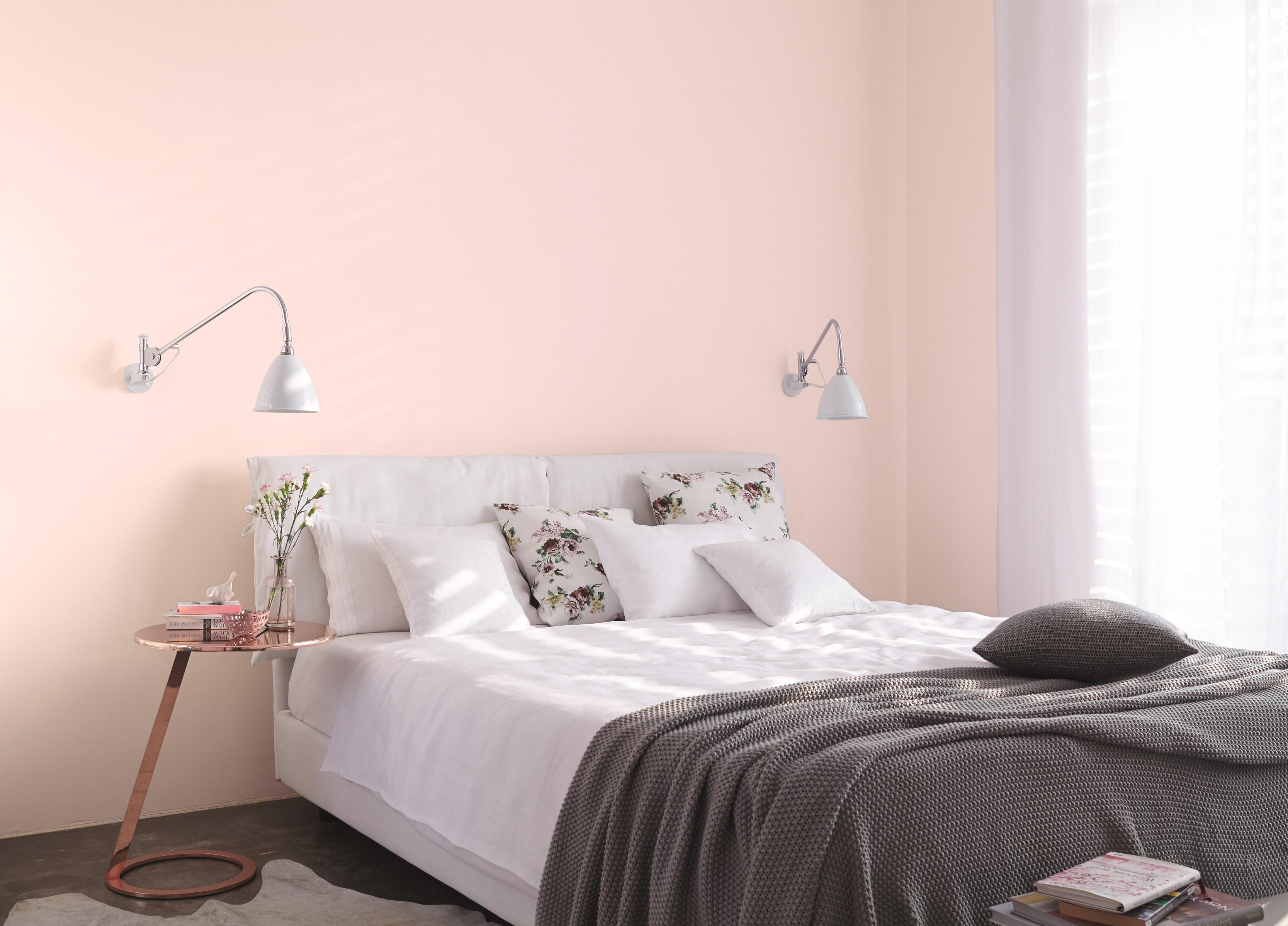 Entzuckend Rosé Wandfarbe Im Schlafzimmer