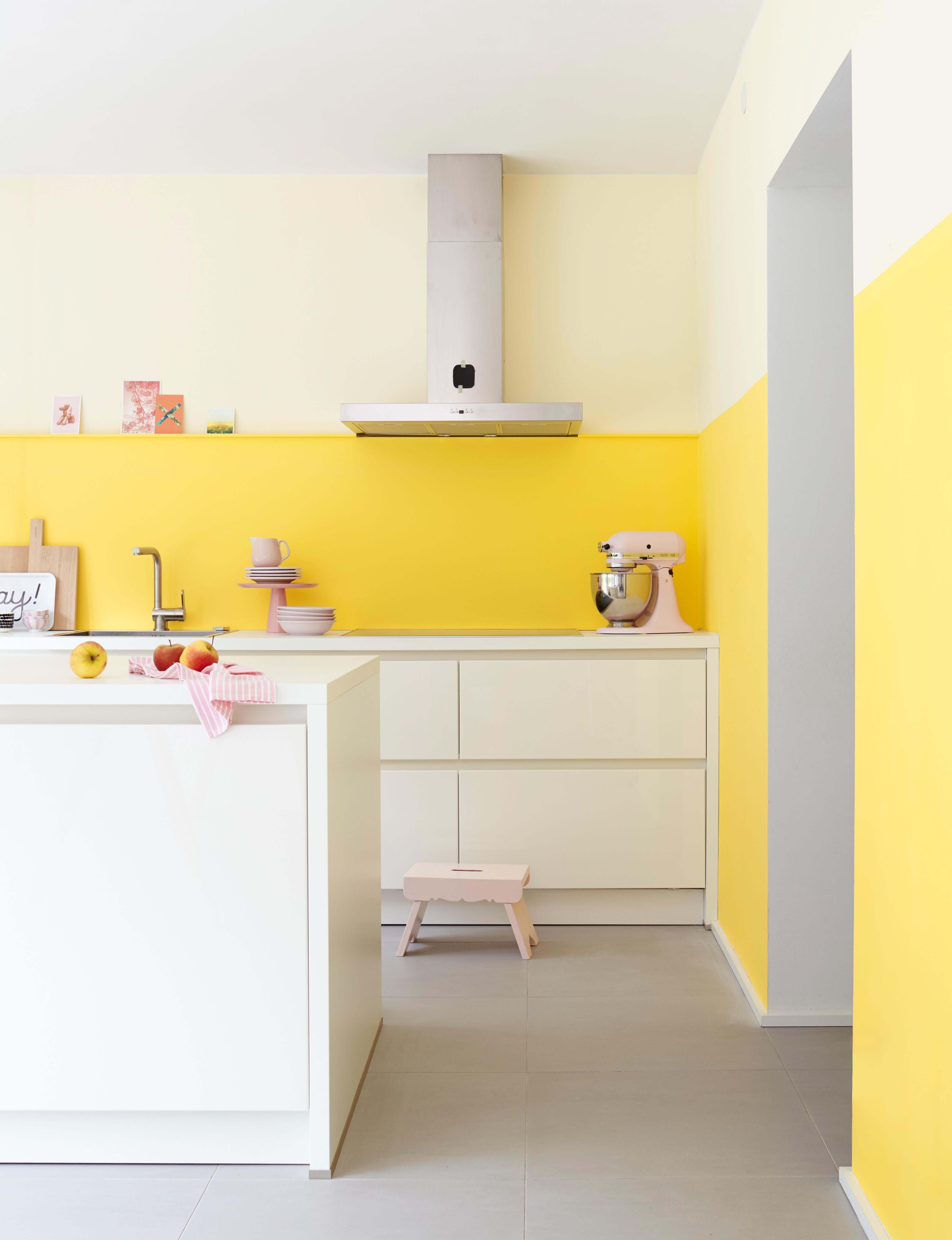 Küche Gelb. Ikea Fliesen Küche Spüle Scheibengardine Modern Jana ...