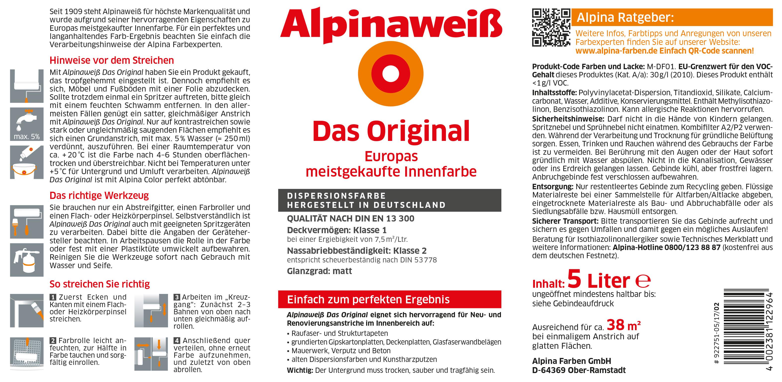 Gute Wandfarbe so erkennt man Qualitu00e4t: Alpina Innen streichen